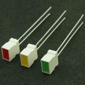 Pack of 10 LED Rectangular 7 x 2.3mm Red Indicator Panel Light Lamp