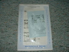 Microscale decals N 60-510 Santa Fe 50' mechanical reefers ship travel  C78