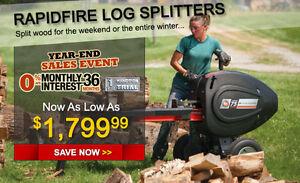 New PRO -XL K-34 DR Rapid Fire Log Splitter / WORLDS FASTEST SPLITTER / W  ,E.S.