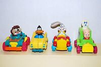 1993 Looney Tunes 4 Quack Up Cars McDonalds Happy Meal Toys Full Vintage Set