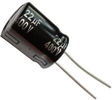 Condensateur électrolytique chimique 22µF 400V THT  10000h Ø16x20mm radial