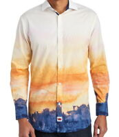 Jerry Garcia Mens L/S Shirt *  Landscape Print Size Large Stretch NWT