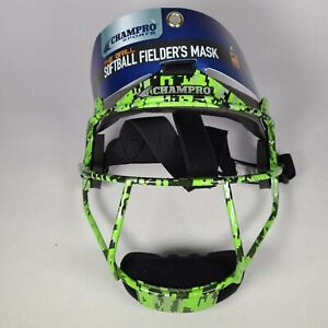 Champro Softball Mask The Grill Adult Size Green
