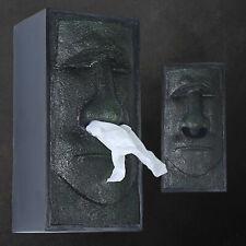 Creative gift Face Easter Island Retro Facial Tissue Box Holder Cover Dispenser