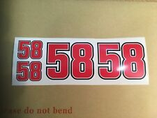X4 Marco Simoncelli Stickers 58 vinyl Motorcycle GP.