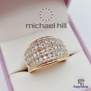 MICHAEL HILL 10ct Gold Diamond Ring 1.00ct TDW Size O - 7.5 MHJ 10K New Box