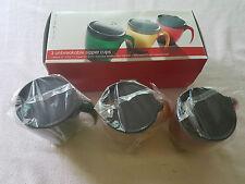 3 Lakeland Sipper Toddler Beaker Cups in Red, Amber & Green 240ml