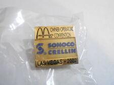 NOS McDonalds Advertising Enamel Pin #55 - 2002 LAS VEGAS - SONOCO CRELLIN