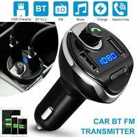 Wireless Car Kit Bluetooth FM Transmitter MP3 Radio Adapter USB Charge Handsfree