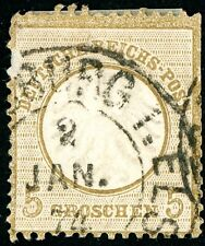 GERMANY 1872 USED SCOTT 6 POSTAGE STAMP