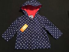 NWT Gymboree Girls Navy Blue Polka Dot Fleece Lined Jacket Size 12-24 M