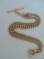 Superb Antique Solid 9ct Rose Gold Double Albert Watch Chain  39.1 gms.