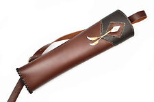 New Hand Crafted Wonderful Handmade Cow Leather Archery Arrows Back Quiver