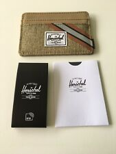 New Herschel Supply Men's Street Style Card Holder Wallet RFID Protect Camel