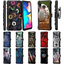 For Samsung Galaxy A20 / A30 / A50 Rugged Armor Kickstand Holster Belt Clip Case