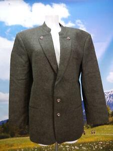 Neuwertig Schurwolle grün mit Revers herrliche Trachtenjacke Jacke Gr.50