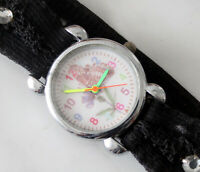 Kids teen quartz watch dial with drawing and elastic bracelet 26mm