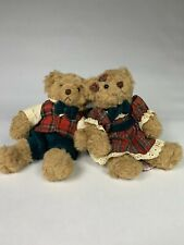 Russ Bears From The Past Christmas Bear Plush - Beverly And Barnaby