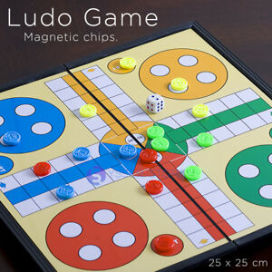 Magnetic Ludo Traditional Board Brain Game 25 X 25 cm new in Box