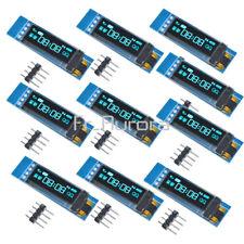 "10PCS 0.91""128x32 IIC I2C Blue OLED LCD Display Module DC 3.3V 5V For  Arduino"