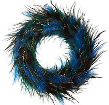 """12"""" Feather Wreath Green Wall Door Christmas Holiday Tabletop Home Decor 116Mf"""