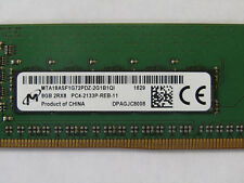 Micron 8GB 2RX8 PC4-2133P  2133Mhz PC4-17000 1.2V DDR4 288Pin ECC REGISTERED MEM