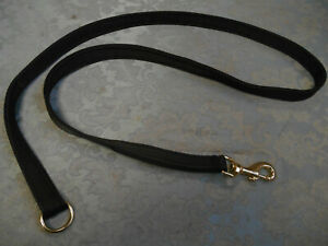 4ft STRONG dog lead solid brass clip UK made soft hygenic washable comfort web