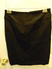 Size 6 Banana Republic Black Cotton Stretch Straight Skirt Unlined