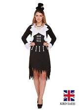 Adult Miss VOODOO DOLL Costume Ladies Witch Doctor Zombie Halloween Fancy Dress