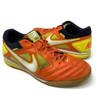 NIKE Gato 5 Men 9.5 Leather Indoor Soccer Futsal Shoes zapatos de Futbol Orange