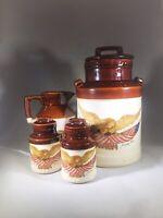 Vintage McCoy Pottery Spirit 1976 Bicentennial Eagle Crock Americana Canister