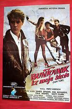 TUFF TURF 1985 JAMES SPADER KIM RICHARDS PAUL MONES REBEL GANG EXYU MOVIE POSTER