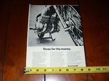 1969 KAWASAKI 500cc MACH III  - ORIGINAL AD