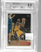 1996 - 1997 Topps Kobe Bryant rookie card BGS 8.5 - Lakers