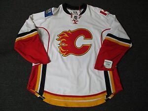 New Calgary Flames Pro Stock Reebok Edge 1.0 Blank Hockey Jersey Authentic White