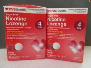 2  CVS Nicotine Lozenge 4 mg  Sugar-Free  CHERRY 96 LOZENGES . EXP11/21+