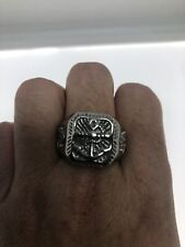 Vintage Anchor Mens Ring Solver Stainless Steel Size 9