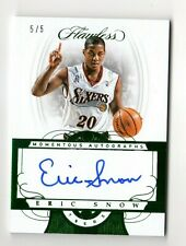 ERIC SNOW NBA 2017-18 FLAWLESS MOMENTOUS AUTOGRAPHS GREEN #/5 (76ers,Cavaliers)