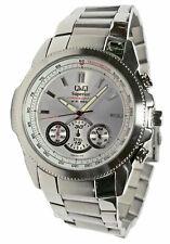 Q&Q by Citizen S094J201Y Men's Analog Chronograph Watch Steel Bracelet NO BOX