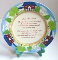 """Bless This Home"" 12"" D. Decorative & Functional Porcelain Collector's Plate"