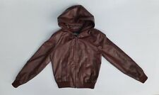 Wilsons Suede & Leather Womens M Brown Lined Leather Jacket Great Condtion
