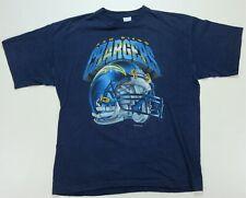 Rare Vintage SALEM San Diego Chargers 1995 Helmet Single Stitch T Shirt 90s XL