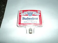 Budweiser Genuine King of Beers Anheuser Bush Inc Clear Vintage Tap Handle