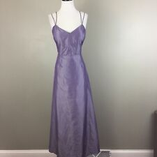 Vintage Express Full Length Maxi Evening Dress Low Back Size 13/14 L Purple Prom