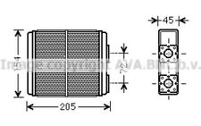 AVA COOLING SYSTEMS Radiador de calefacción OL6403