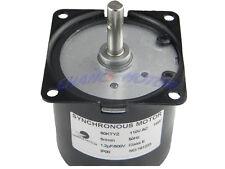 AC 110-130V 5/6RPM 60KTYZ Synchronous Motor Gear Box Motor CW/CCW Control 14W