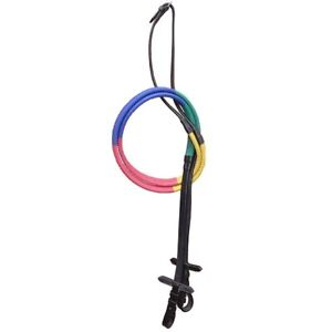 Elico Multicoloured Rubber Covered Training Reins (Kids, Childrens, Pony, Full)