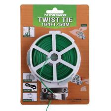 VIVOSUN 50m Sturdy Garden Plant Snack Twist Tie Roll Spool Dispenser w/ Cutter