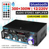 600W Home Car bluetooth Audio Stereo Power Amplifier Digital HIFI FM SD 12/220V