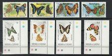 SIERRA LEONE, 1979/80 Schmetterlinge 574-77, 614-17 **, (27997)